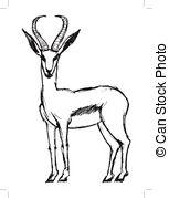 Dorcas gazelle Vector Clip Art Illustrations. 6 Dorcas gazelle.