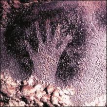 Ancient Cave Handprint Dordogne France Clip Art Download.