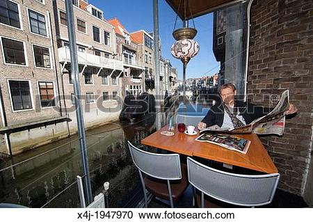 Stock Photography of downtown the old city of Dordrecht.