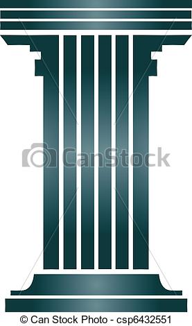 Vector Clip Art of Column building.