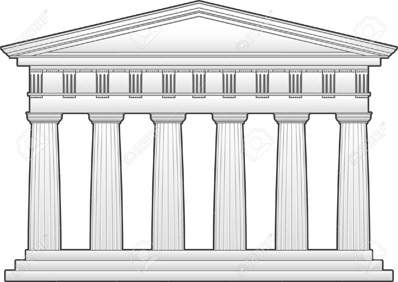 Greek Temple, Doric Order Royalty Free Cliparts, Vectors, And.