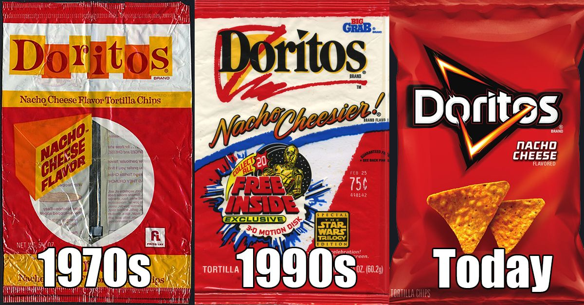Who remembers what the old Doritos bag used to look like.