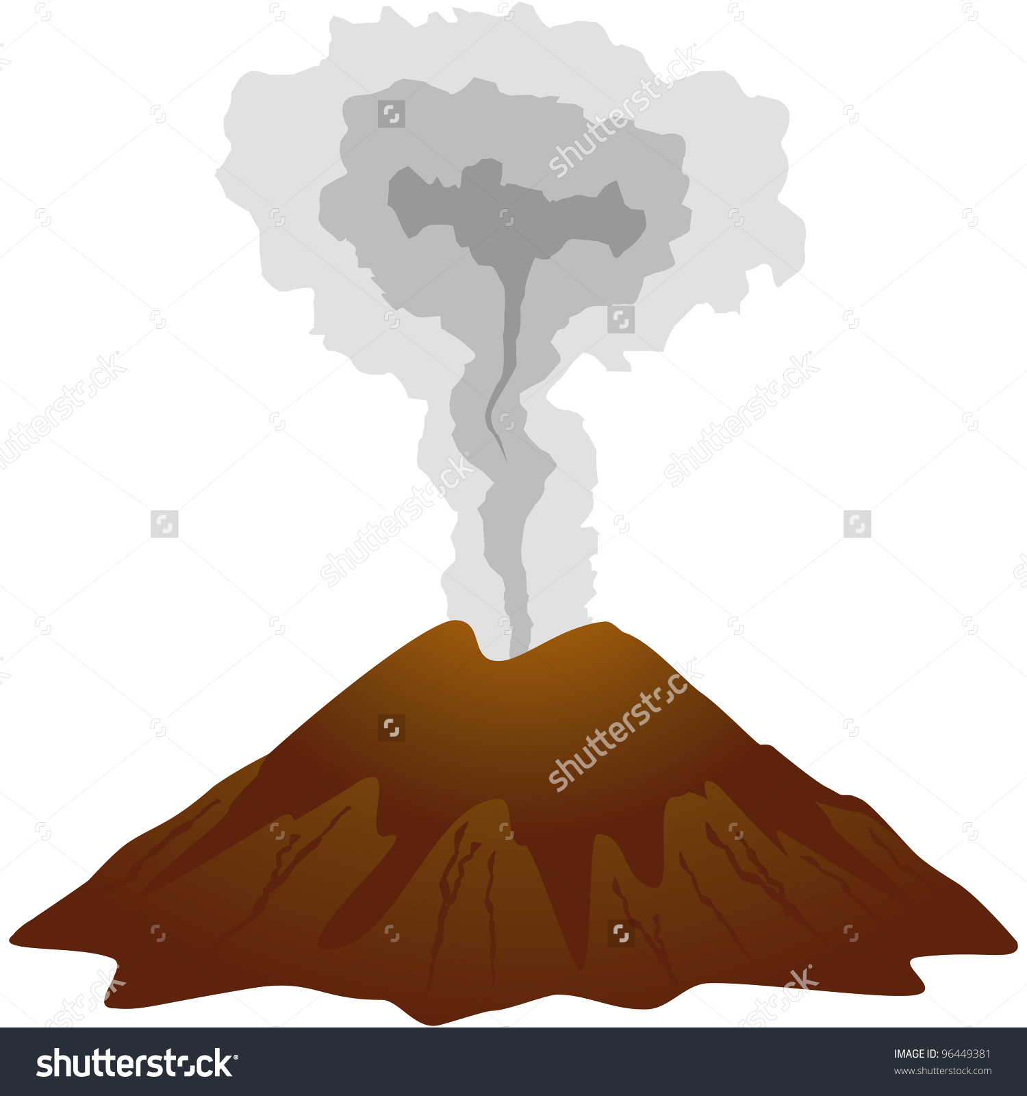 Dormant Volcano Icon Isolated On White Stock Vector 96449381.