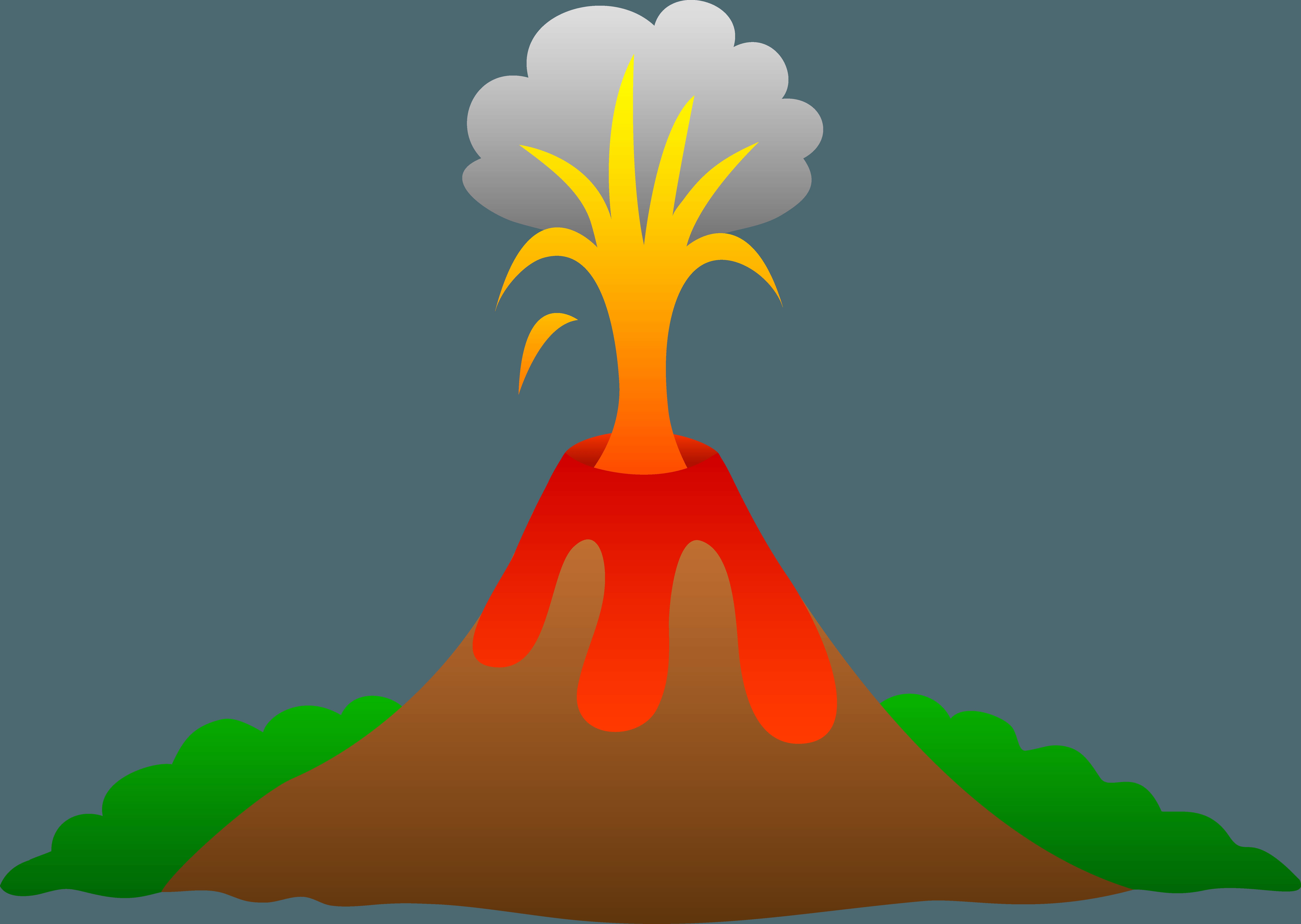 V Is For Volcano Clipart Dormant volcano clipar...
