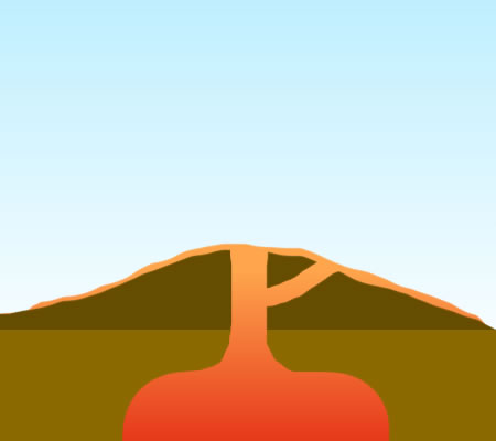 Shield volcano clipart.