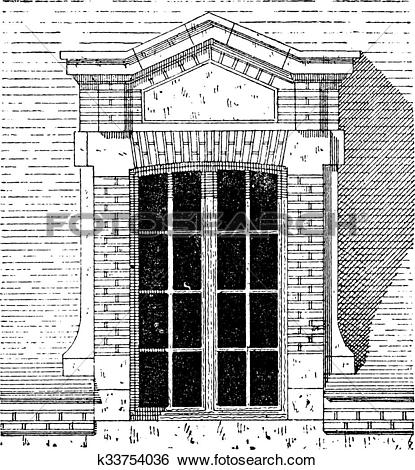 Clip Art of Flemish dormer, Palace of Fontainebleau, Paris.
