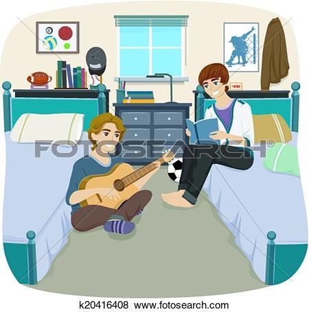 Clip Art of Dorm Room Move k20416426.
