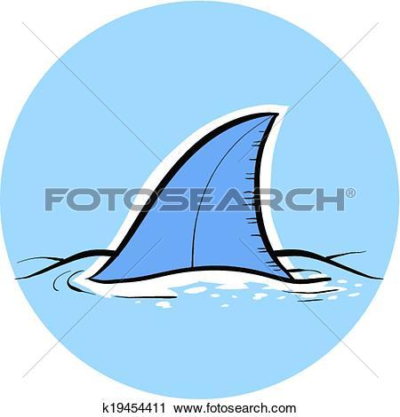 Clipart of Shark Dorsal Fin k19454411.