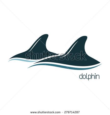 Dolphin Dorsal Fin Clipart.