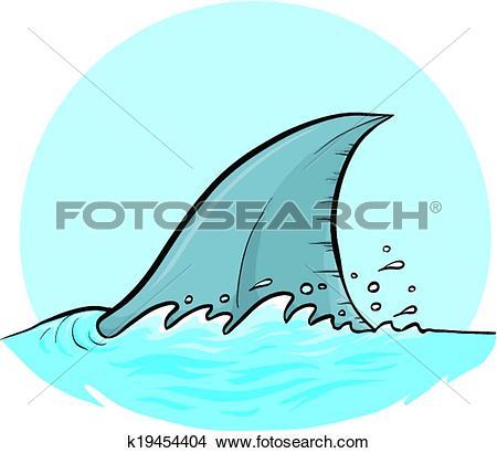 Clipart of Shark Dorsal Fin k19454404.