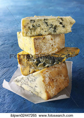 """Stock Image of """"British Blue cheese, from the top Blue Vinney."""