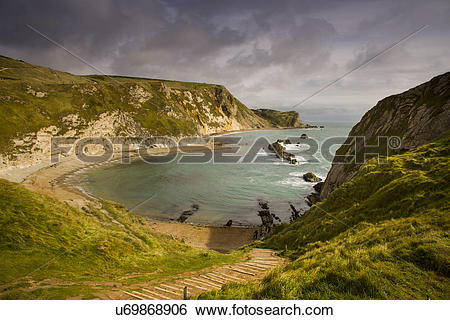Stock Images of England, Dorset, Durdle Door. A view toward King's.