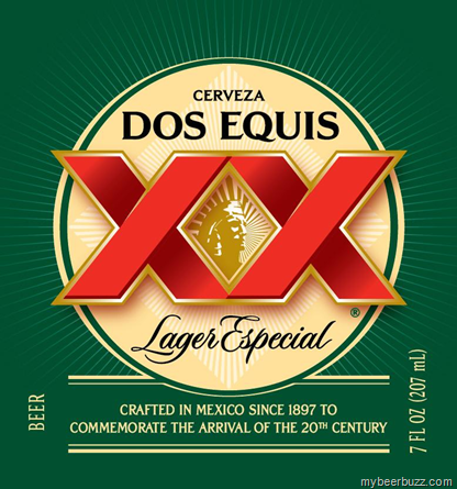 Dos Equis Lager Especial 7oz Bottle.