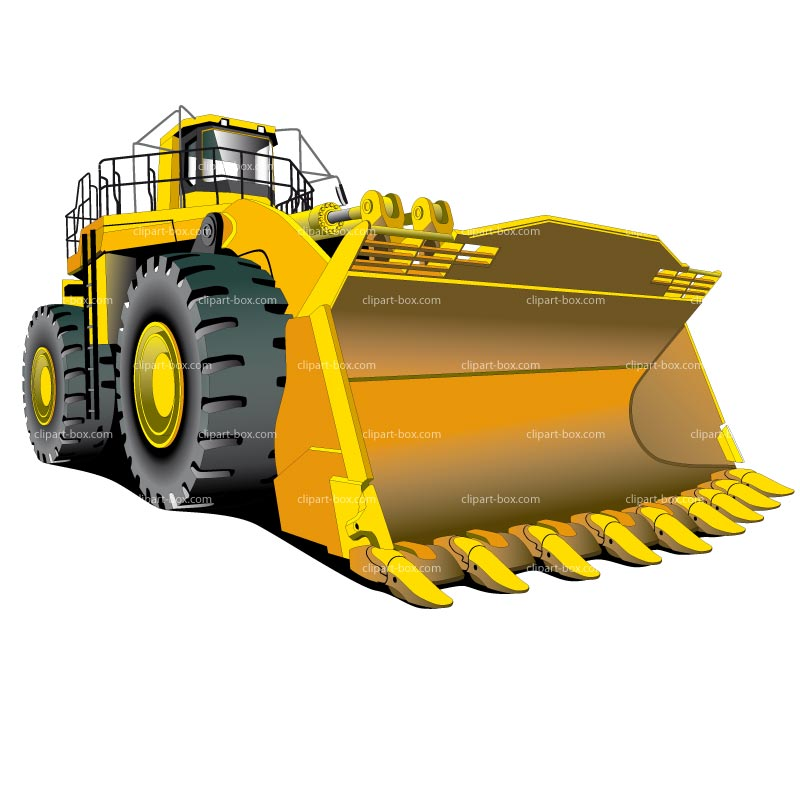 High Track Bulldozer Clipart.