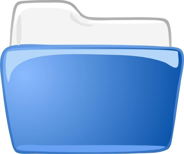 Cartella Dossier Directory clip art Free vector in Open office.