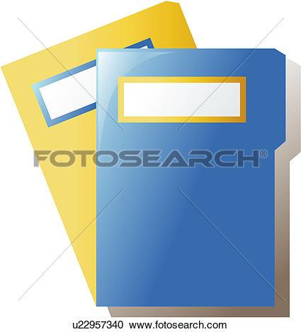 Clip Art of office stationery, file, folder u18549429.