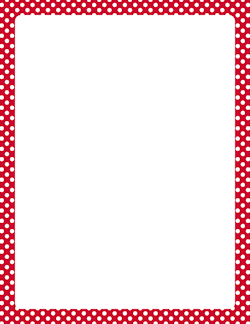 Red and White Polka Dot Border.