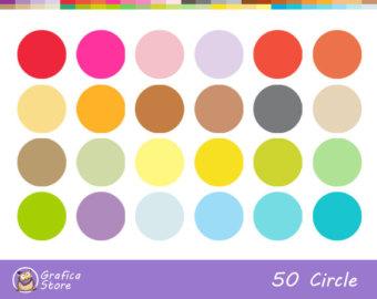 Clip Art Polka Dot Border Circles.