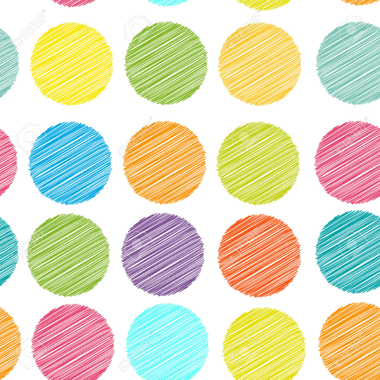 Rainbow Color Polka Dot Background, Seamless Pattern. Embroidery.