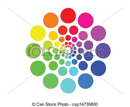 Dotted Color Wheel Vector.