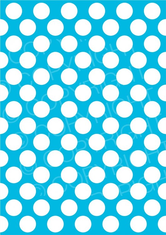 White Polka Dots on Blue Prawny Scrapbooking Background Clip Art.