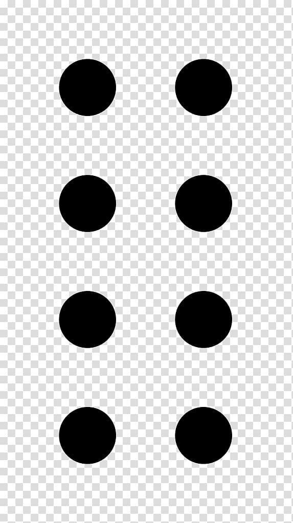 Eight Dots, character graphic symbol transparent background.