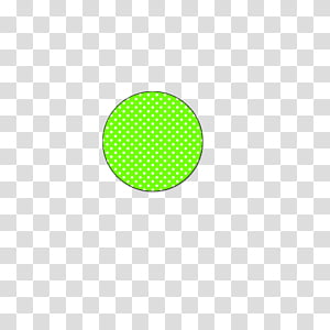 Circulos, round green and white polka.
