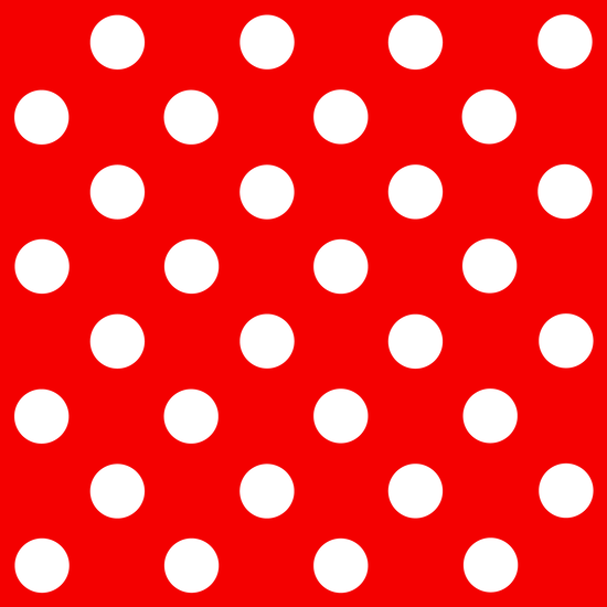 Red and White Polka Dots in 2019.
