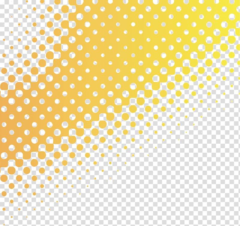 Textile printing Halftone, Yellow gradient background dot.