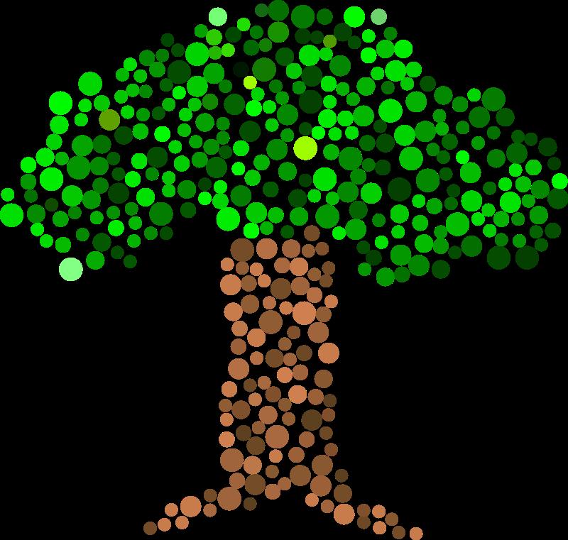 Free Clipart: Dot Tree 2.