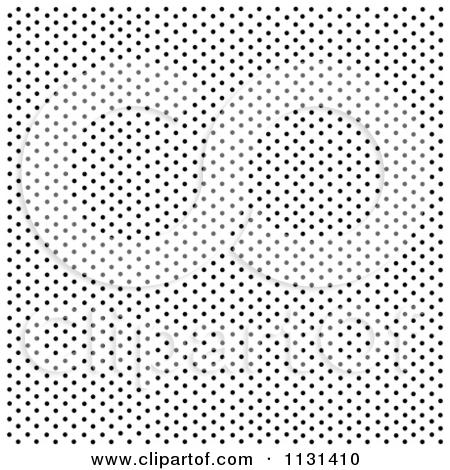 Clipart Of A Black And White Sprinkle Polka Dot Background 5.