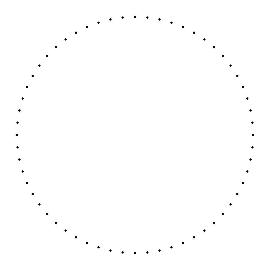 Line of dots clipart.