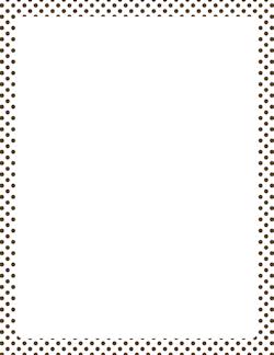 Black and white polka dot border clip art.