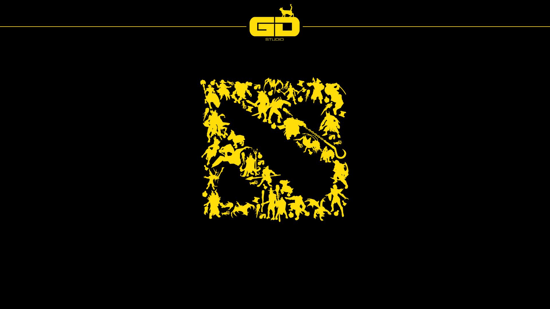 Dota 2 silhouette logo wallpaper..