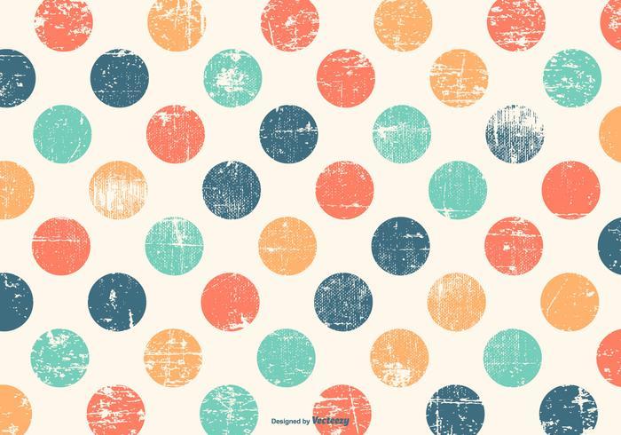 Cute Colorful Polka Dot Grunge Background.
