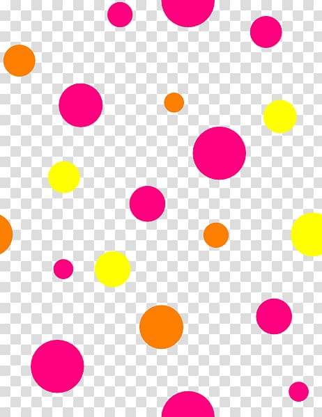Polka dot Circle Area Petal Font, Neon Dot transparent.