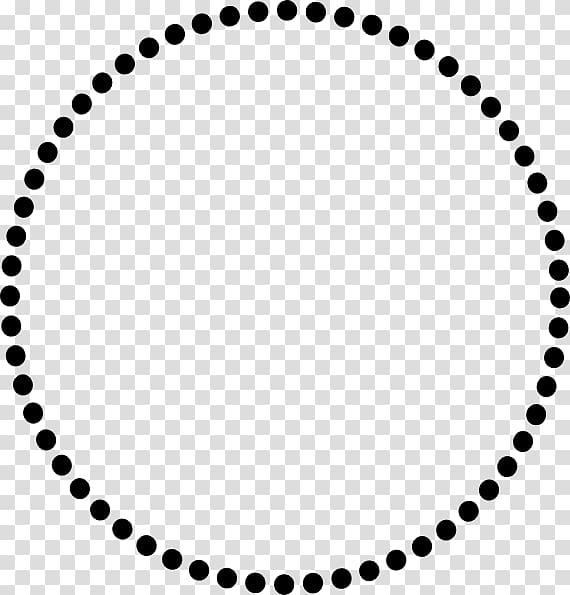 Circled dot , dotted circle transparent background PNG.
