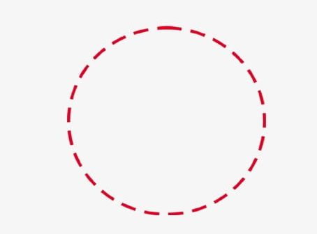 Dotted Circle Simple Decorative Borders PNG, Clipart.