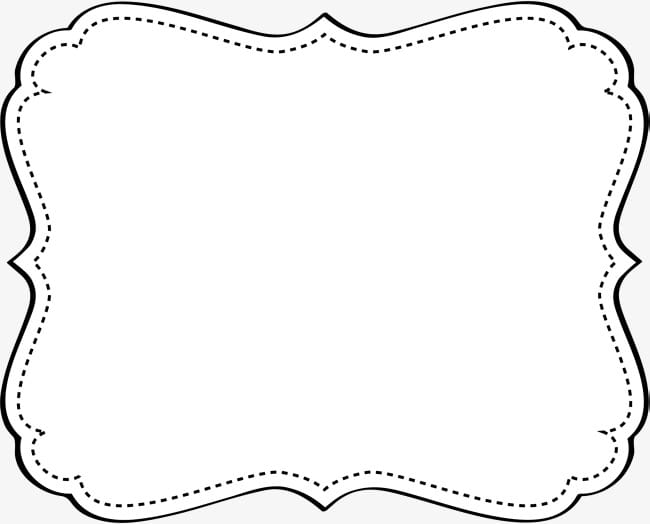 Black dotted frame PNG clipart.