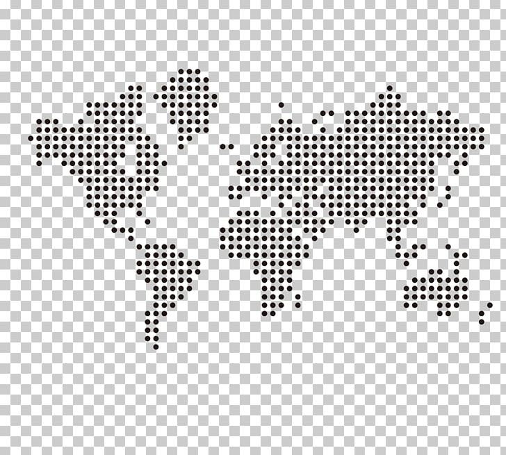 World Map Globe PNG, Clipart, Black, Black And White, Dot.