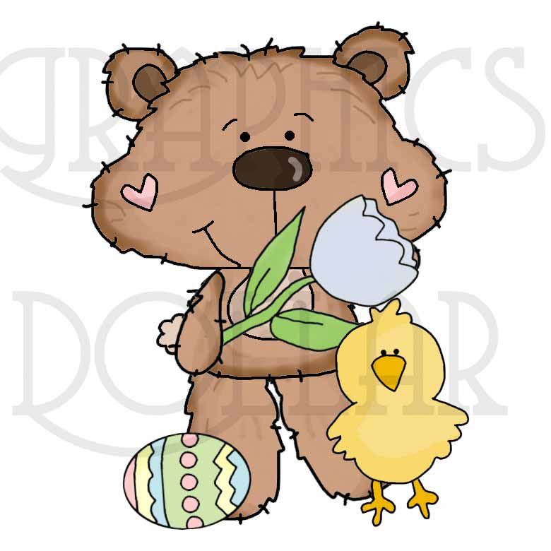 Little Dotty Loves Easter Clip Art.