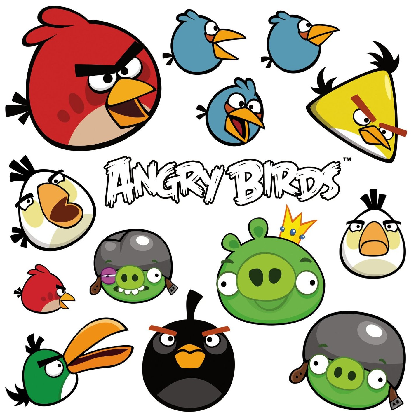 Angry Birds Wall Stickers Spotty Dotty Clipart.