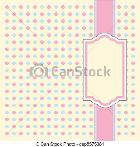 Vector Clip Art of Invitation Pattern Dotty.