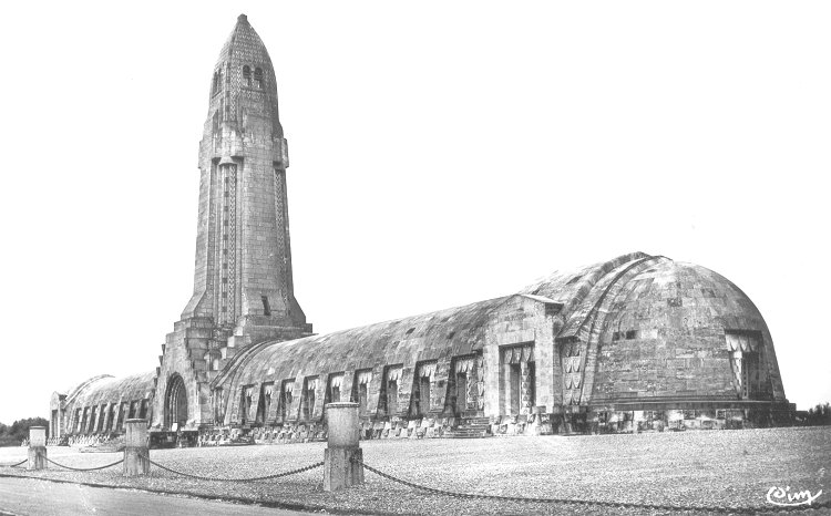 The Douaumont Ossuary in Verdun France.