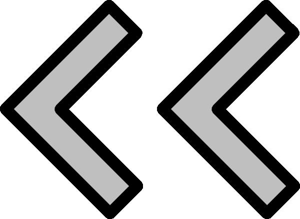 Gray Left Double Arrow Clip Art at Clker.com.