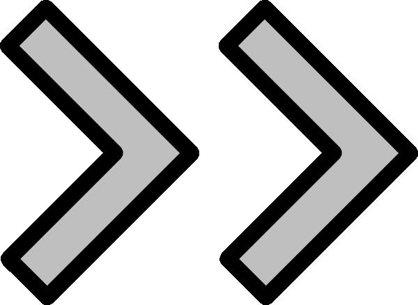 Right Double Arrow Clip Art at Clker.com.