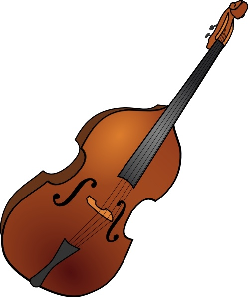 Double Bass clip art Free vector in Open office drawing svg ( .svg.