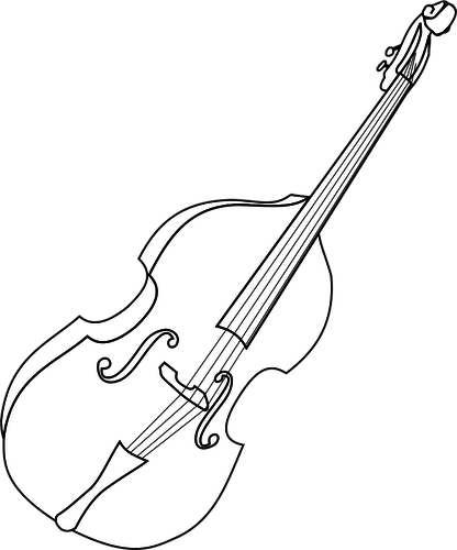 139 free double bass vector image.
