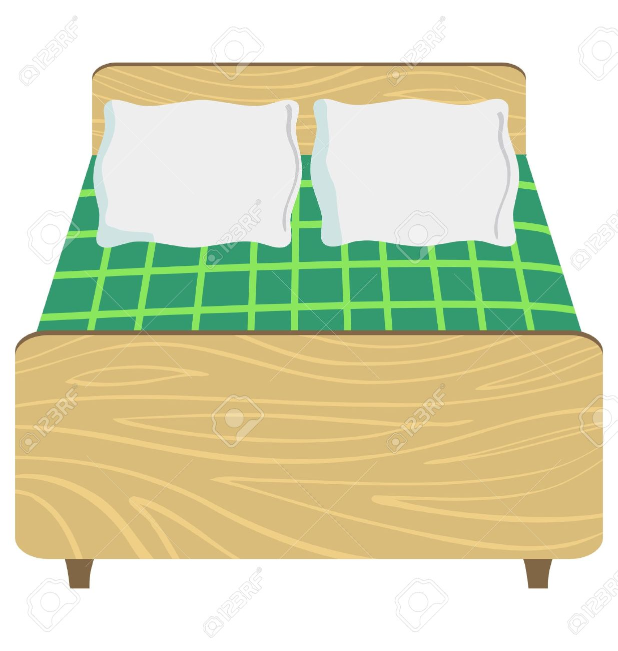 Clipart bed front view.