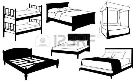2,014 Double Bed Cliparts, Stock Vector And Royalty Free Double.